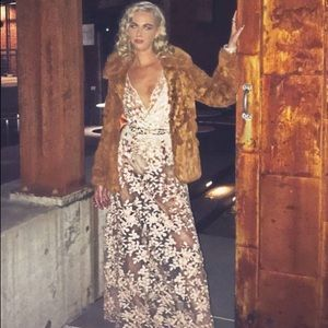 Fashion nova pink/gold naked dress